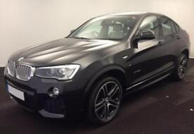 2016 GREY BMW X4 3.0 XDRIVE30D M SPORT DIESEL AUTO COUPE CAR FINANCE FR £100 PW