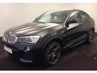 2016 GREY BMW X4 3.0 XDRIVE30D M SPORT DIESEL AUTO COUPE CAR FINANCE FR £100 PW