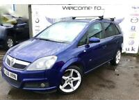2006 VAUXHALL ZAFIRA 1.8 SRI PLUS 16V 7 SEATER 18 INCH ALLOY WHEELS PETROL