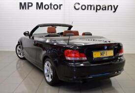 2011 11 BMW 1 SERIES 2.0 118I SPORT 2D 141 BHP 2DR 6SP CONVERTIBLE,BLACK,57,000M