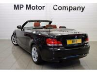 2011 11 BMW 1 SERIES 2.0 118I SPORT 2D 141 BHP 2DR 6SP CONVERTIBLE,BLACK,57,000M