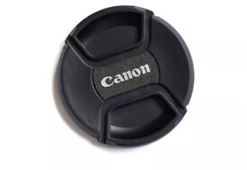CANON EF FIT LOGO DUST CAPS IN 52mm, 55mm OR 58mm, YOU CHOOSE