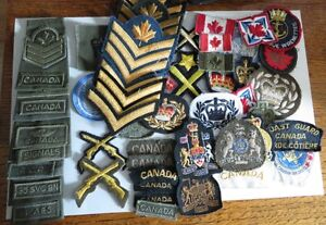 Assorted Canadian badges