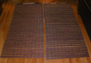 2 ---Woven Bamboo Roman Shade With Hidden Cord