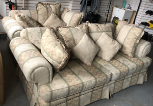 Patterned Cloth couches for sale!