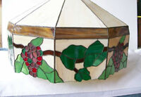 Tiffany Style Leaded Stained Glass Ceiling Light Fixture