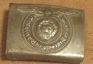 German SS Belt Buckle - RZM 36/42 SS Authentic Buckle