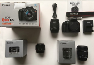 CANON EOS T6 WIFI + 10-18mm f/4.5-5.6, 50mm f/1.8, EF-S 18-55mm