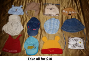 0-3 Mths Baby Boy Hats Lot 1 (Take 12 Pieces for $10)