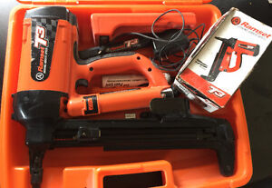 Ramset T3 fast track nailer with a box of nails