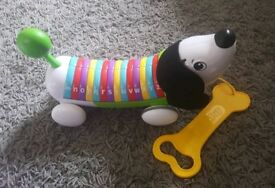 Electronic Leapfrog pull along puppy