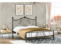 NEW STYLE SINGLE -DOUBLE- KING SIZE METAL BED BASE