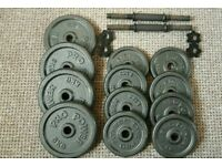 Dumbbells, cast iron weights