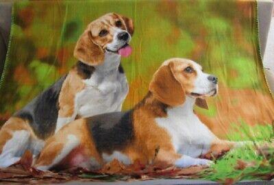 New Beagle Fleece Throw Gift Blanket Breed Beagles Hound Dog Puppy SOFT -