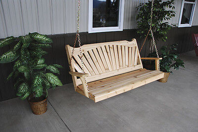 Classic Outdoor 6 Foot Fanback Porch Swing *8 Stain Colors*  6 Ft Swing USA
