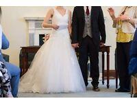 Beautiful Anna Sorrano wedding dress invory size 8