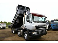 2008 DAF CF85.360 EURO 5 8X4 STEEL BODY TIPPER TRUCK SCANIA TIPPER VOLVO TIPPER GRAB MAN IVECO SALE
