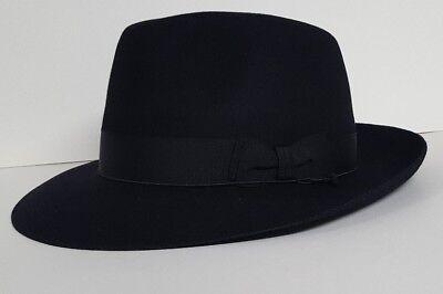 New Fur Felt - Brand New Borsalino 100% Fur Felt Black Size 60  7 1/2