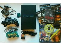 PlayStation 2 BUNDLE 2 controls games and more!!