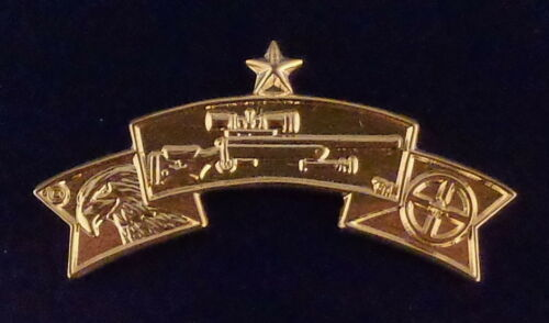 Police SENIOR SNIPER Qualification Tab Center Mass POLISHED GOLD police pin