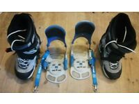 Vans snowboarding boots and bindings