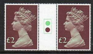 GB 1977 £2 Machin traffic light gutter pairs MNH Unfolded stamps Free postage!