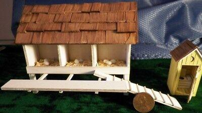 Puppenhaus Miniatur Weiß Chicken