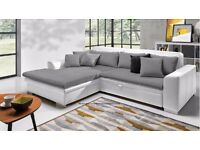 LORETTO Delivery 1-10 days Corner Sofa Bed Brand New Packed Function and Storage We can Delivered