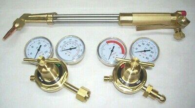 18 Acetylene Cutting Torch 70 Deg W Tip Oxy-fuel Regulator Set Fits Harris
