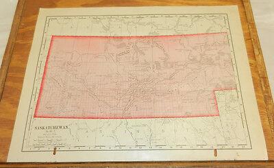 1900 Antique COLOR Map/SASKATCHEWAN, CANADA