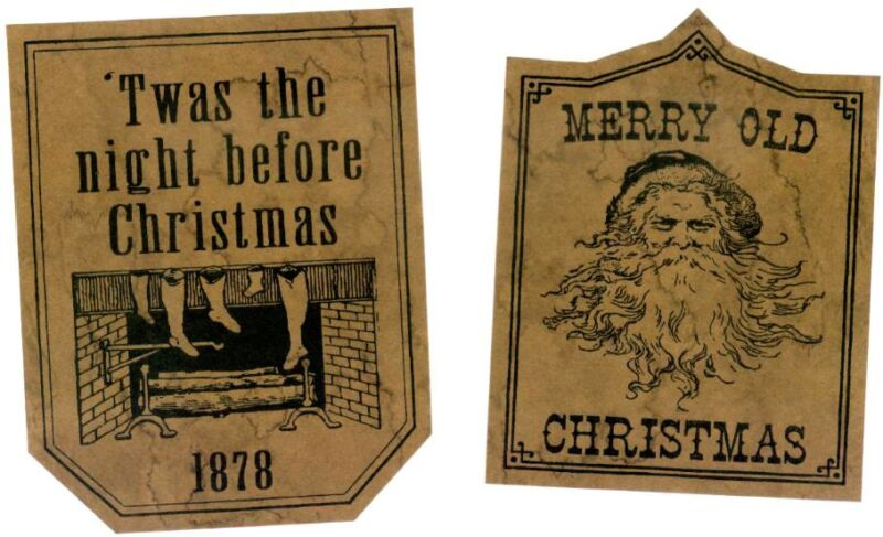 Christmas Prim Labels 26 Jelly Cupboard Pantry Labels Set A