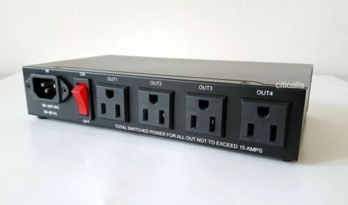 IP9258T 4 Port Built-In Web AC Power Network Switch Controller Remote Reboot