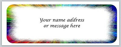 Personalized Address Labels Multi Color Burst Buy 3 Get 1 Free Bo 462