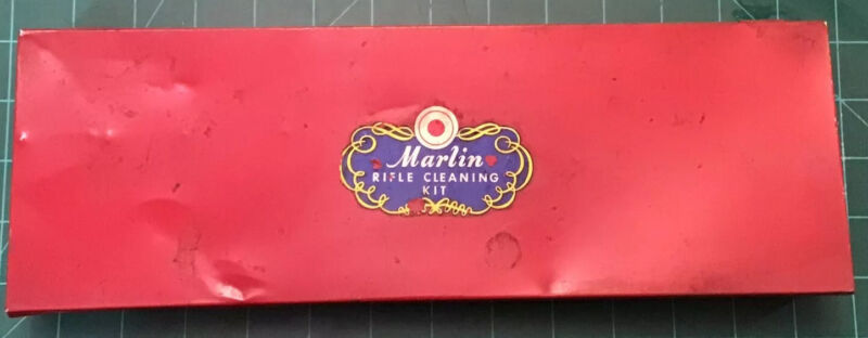 Vintage Metal Marlin Rifle Cleaning Kit Red  Gun Company Old