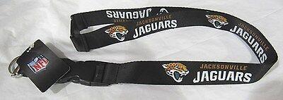 NFL NWT KEYCHAIN LANYARD - JACKSONVILLE JAGUARS - BLACK Jacksonville Jaguars Keychain