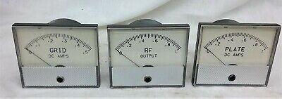 3 Qty Triplett Grid Plate Rf Panel Meters Working Tested