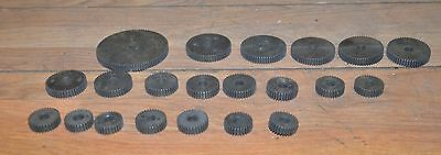 21 Lathe Gears 96 - 30 Threading Gear Lot South Bend Machinist Vintage Tools