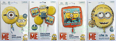 DESPICABLE ME MINION MADE FOIL PARTY BALLOONS - FILL WITH HELIUM - Minions With Balloons