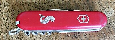 Vintage Victorinox Fisherman Swiss Army Knife 91 mm Red 1970's