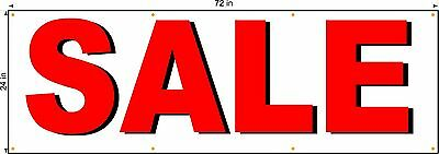 Sale Banner 2ft X 6ft Larger Size