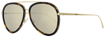Fendi Aviator Sunglasses FF0155S 0C1UE Gold/Havana 57mm 155