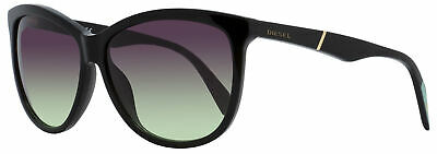 Diesel Oval Sunglasses DL0221 01T Shiny Black   59mm 221, used for sale  Shipping to India