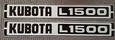 Kubota L1500 Reproduction Hood Decal Set