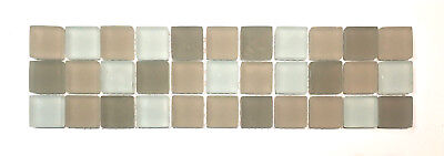 Palm Beach Glass 3x12 Frosted Decorative Border Wall Floor Tile Backsplash