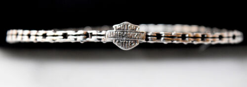 Authentic Harley Davidson Sterling Silver Motorcycle Chain Bracelet
