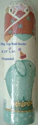 KidsLine * BIG TOP * WALLPAPER BORDER * CIRCUS * aqua * 30 feet / roll * NIP