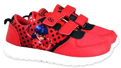 Miraculous  Ladybug Sneaker Turnschuhe mit Klettverschluss Mädchen Sportschuhe ()