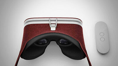 NEW RED GOOGLE DAYDREAM VIEW VR HEADSET GLASSES (CRIMSON) WORLD SHIP NIB