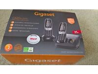Twin Cordless Telephone - As New Gigaset C620 Digital Answerphone with Hands Free Speakerphone