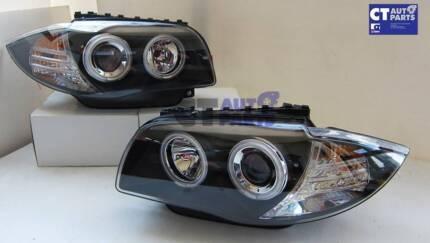 CCFL Angeleyes Projector HeadLights 04-11 BMW E81 E82 E87 E88 Wetherill Park Fairfield Area Preview